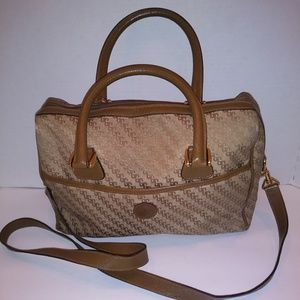 Gucci Tan Canvas and Leather Doctor Bag/Crossbody